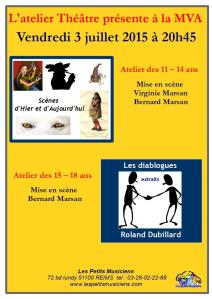 Affiches spectacles juin 2015